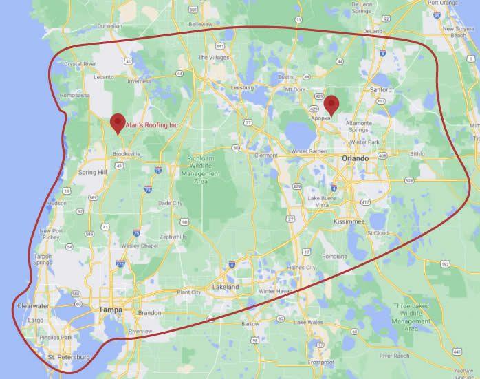 alans service area map